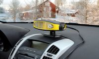 Ventilátor s možností ohřevu, se zabudovaným LED světlem a výklopnou rukojetí. Compass