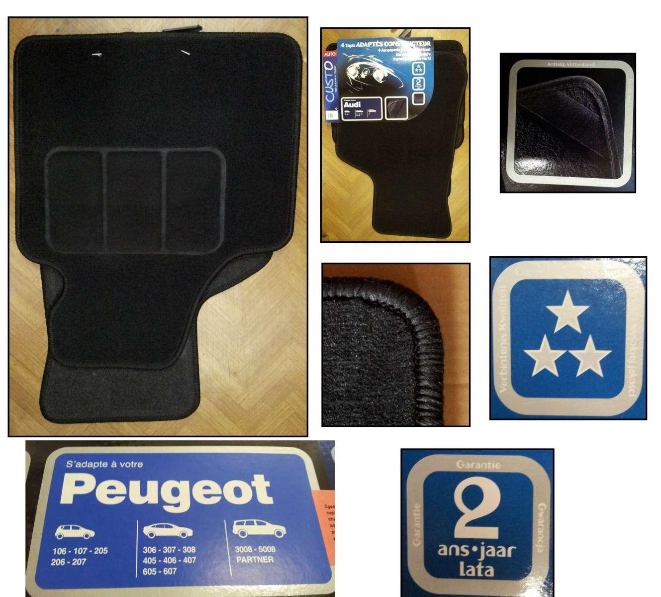 Autokoberce PEUGEOT Tvar autokoberců je optimalizován pro vozy této značky (2x přední + 2x zadní)