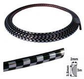 Ozdobná lišta samolepící carbon 3,5x2 mm, 3 m