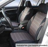 Autopotahy šedé Poly Univerzální na auto s atestem na airbag, zipem dělená lavice Vyrobeno v EU