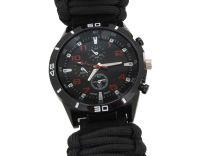 Offroad hodinky OUTDOOR s teploměrem černé
