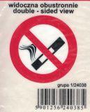 SAMOLEPÍCÍ DEKORY zákaz kouření kulatá 4cm, do taxi