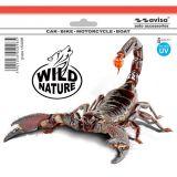 SAMOLEPÍCÍ DEKORY škorpion 64x47 cm s UV filtrem