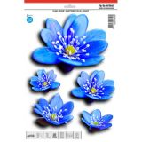 Samolepka, dekor květiny lekníny modré 30 x 23 cm s UV filtrem
