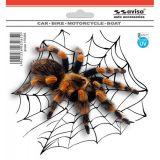 SAMOLEPÍCÍ DEKORY pavouk tarantule 15x13 cm s UV filtrem