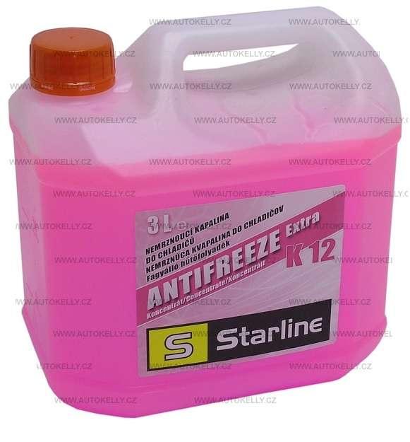 Nemrznoucí směsi do chladiče K12 antifreeze růžový, 3 L