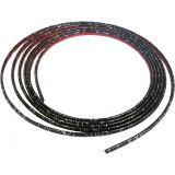 Ozdobná lišta samolepící černá stříbrná linka 6x2,7 mm, délka 3m