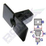 Montážní kostka A-24; B-12,1; C-4; d-2,3; F-7,2; G-6,5; H-12,8 mm