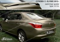 Zadní spoiler křídlo pro CITROEN C-Elysee sedan 11.2012r =>