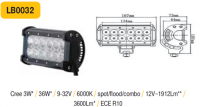 LED panel 36W, 167 mm, reflektor