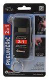 Pneuměřič 2v1 LCD displej, měří hloubku dezénu