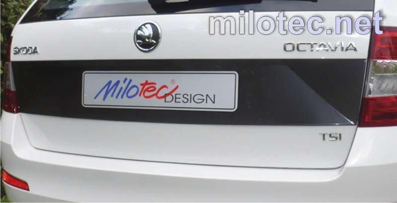 Vyrobeno v EU Kryt pod SPZ Škoda Octavia III Combi 5.2013r =>, ABS černá metalíza
