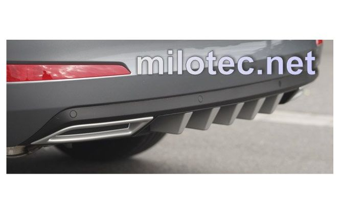 Difuzor zadního nárazníku s převleky, ABS černá metalíza, Škoda Octavia III Kombi 5.2013r =>