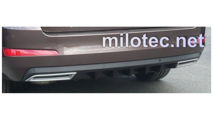 Difuzor zadního nárazníku s převleky, ABS černá metalíza, Škoda Octavia III. Limousine 2.2013r =>