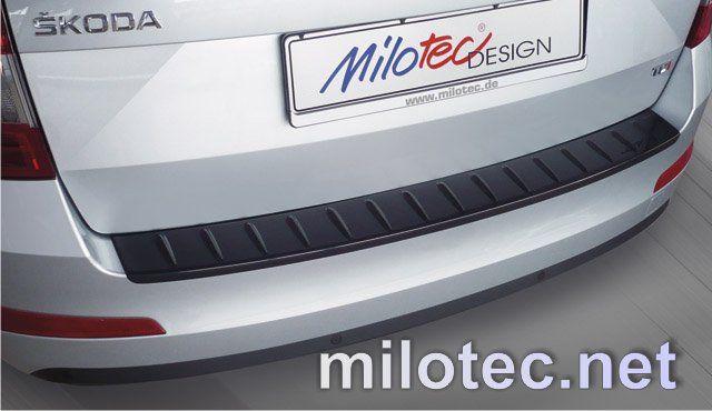 Nášlap, práh pátých dveří s výstupky, ABS-černá metalíza, Škoda Octavia III Combi, 5.2013r =>