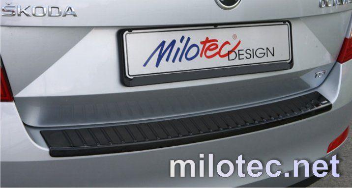 Nášlap, práh pátých dveří s výstupky, ABS-černá metalíza, Škoda Octavia III Limousine 2.2013r =>