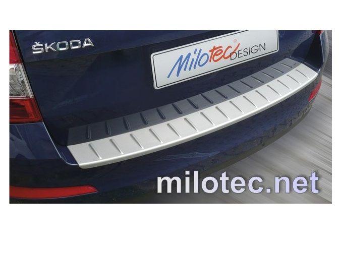 Nášlap, práh pátých dveří s výstupky, ABS-stříbrný, Škoda Octavia III Combi, 5.2013r =>
