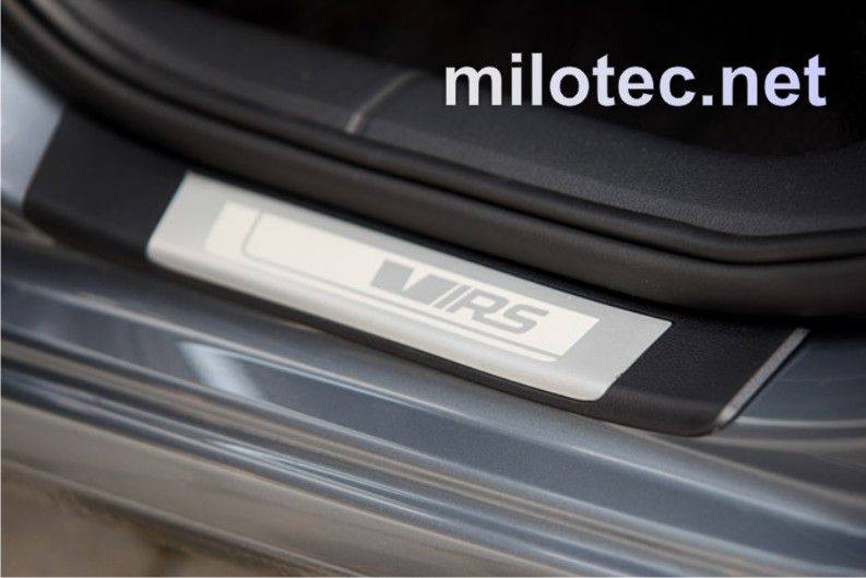 Ochrana proti poškrábání prahů zadní Škoda Octavia III. RS, 2ks