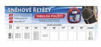 Sněhové řetězy X30, 135/70 R15 ÖNORM V 5117 Rychloupínací křížová stopa Nylonová taška Xtune