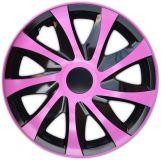 Poklice růžové 15'' DRACO CS Pink black 4ks
