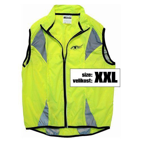 Reflexní vesta víceúčelová je vhodná pro jízdu na kole, běh, do auta, vel XXL
