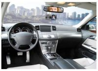 Vnitřní zrcátko, nastavitelné obdélník s přísavkou 125 x 54 mm, Vhodné pro autoškoly, řidiče s dětmi, pro přepravu zvířátek Plus