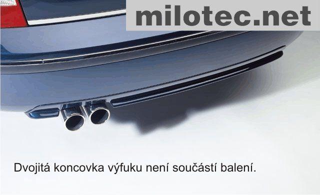 Difuzor zadního nárazníku s výřezem - ABS karbon, Škoda Superb