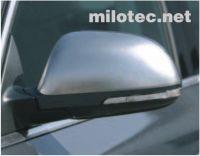 Kryty zrcátek Milotec - matový nerez, Škoda Octavia II. Facelift, Octavia II. Tour, Superb II.