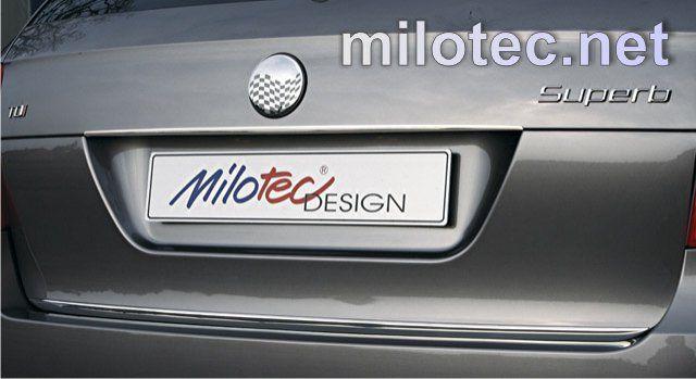 MILOTEC Lišta nad zadní SPZ - nerez, Škoda Superb II. Combi