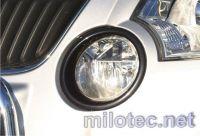 Rámečky mlhových světel - ABS černá metalíza, Škoda Yeti