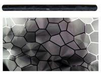 Karbonová medová plástev folie černá 3D 50x60 cm, tvarovatelná samolepka
