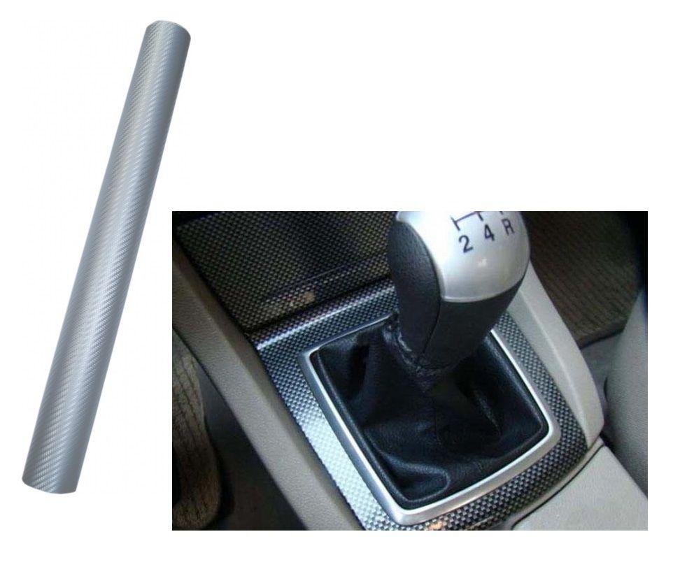 Samolepka na celé auto fólie carbon stříbrný 3D 100x152 cm samolepka interiér, exteriér