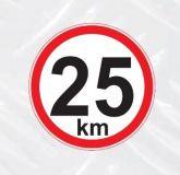 Samolepka 25km/h na auto, na vozík malá
