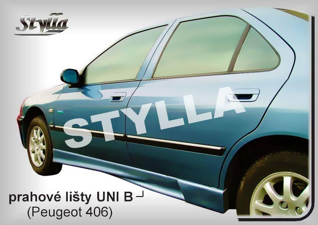 Univerzální tuningové kryty prahů určeny pro osobní auta typ B, 165 - 203 cm
