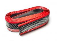 Spoilerová lipa karbon s červenou linkou Carbon-Look 2,5m lišta z pružného materiálu