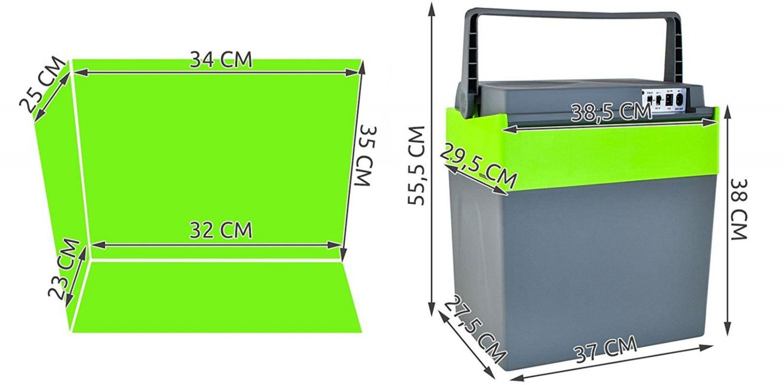 Autolednice, CHLADÍCÍ BOX 30 litrů, 12V / 230V, Eco A++, hlučnost 47dB Vyrobeno v EU