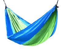 Houpací síť NYLON 275x137cm zeleno-modrá, max. 120 kg