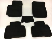 Luxusní koberce přesné textilní FORD KUGA, černé, 2013-