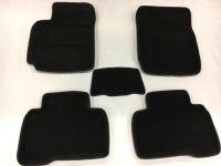 Luxusní koberce přesné textilní HONDA CIVIC IX HB, černé, 2011-