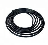 """Samolepící ochranná páska černá lesklá ozdobná profil ,,U"""" 8x6 mm, 15m"""