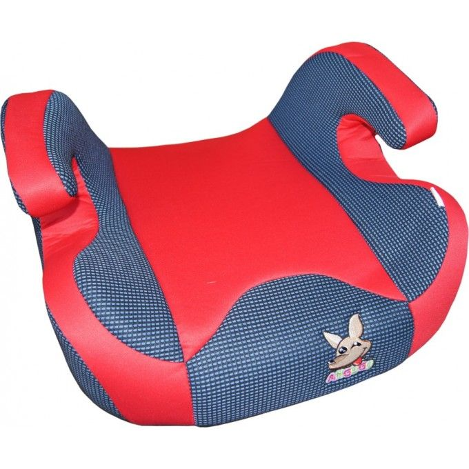 Dětský podsedák do auta, 100% bavlna 15-36kg (cca 3-12let) ANGUGU červená 1ks