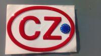 Samolepka znak CZ EU 3D červená 12,5 x 8,5cm