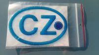 Samolepka znak CZ EU 3D modrá 12,5 x 8,5cm