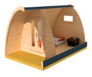 Letní kempingový domek 4 x 2.5 m, dřevo