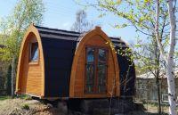 Letní kempingová chatka 6,5 m, dřevo, dvě místnosti