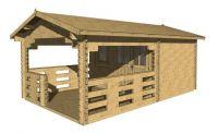 Zahradní domek, chata Daniel, 17 m2, dřevo