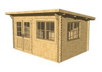 Zahradní domek Lille toit plat, 10,2 m2 dřevo