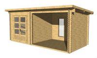 Zahradní domek s terasou Elvis 13,38 m2, dřevo