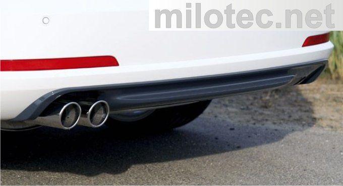 Difuzor zadního nárazníku - ABS/ASA černý, Škoda Octavia II. RS Limousine/Combi