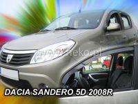 Plexi, ofuky Dacia Sandero od roku 2008r =>, 5dv., sada 2ks přední HDT